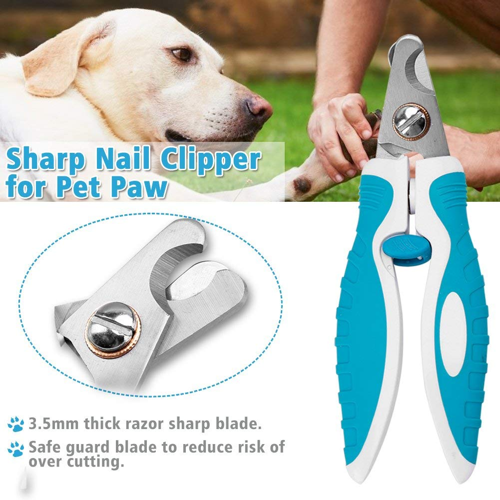 cyrico Sharp Dog Nail Clippers Trimmers with Quick Sensor, Pet Nail ...